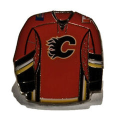 Flames Red Jersey Pin