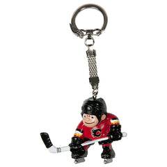 Flames Red Player Keychain
