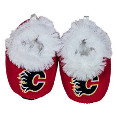 Flames Red Infant Slippers