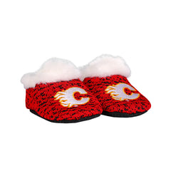 Flames Infant Poly Knit Slippers