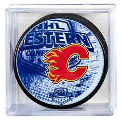 Flames Cubed Conference Puck