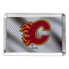 Flames Red C Acrylic Magnet
