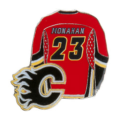 Flames Player Pin