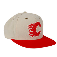 Flames Wool Leather Adjustable Cap