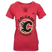 Flames Ladies Banner Dazzle T-Shirt