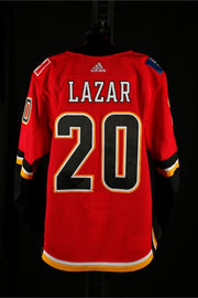 17-18 Game Worn Jersey Lazar Home Set 2