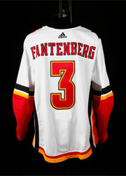 18-19 Game Worn Jersey Fantenberg Away Set 1