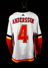18-19 Game Worn Jersey Andersson Away Set 3