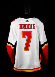 18-19 Game Worn Jersey Brodie Away Set 2