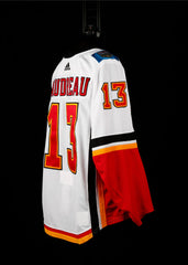 18-19 Game Worn Jersey Gaudreau Away Set 2