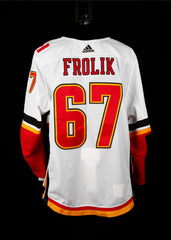 18-19 Game Worn Jersey Frolik Away Set 1