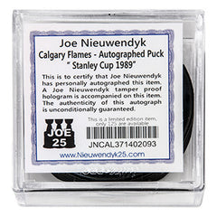 Flames Nieuwendyk Stanley Cup 1989 Autographed Puck