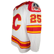 Flames Forever a Flame Nieuwendyk Autographed Vintage White Jersey
