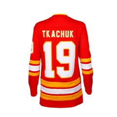 Flames Ladies Retro Tkachuk Breakaway Jersey