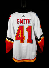 18-19 Game Worn Jersey Smith Away Set 3A