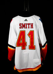 18-19 Game Worn Jersey Smith Away Set 2A