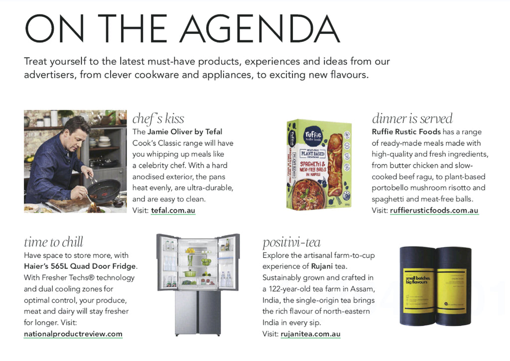 Rujani Tea in Delicious Australia Agenda Section