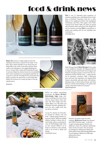 Rujani Tea is featured in the Eat.Live.Escape magazine November 2020 issue