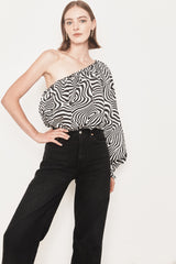 Arc & Bow Blouse Charisma Blouse - Black & White