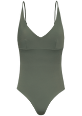 Augustine Amsterdam Swimwear army-green / XS Pine V-neck bathing suit