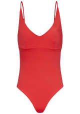 Augustine Amsterdam Swimwear coral / XS Pine V-neck bathing suit