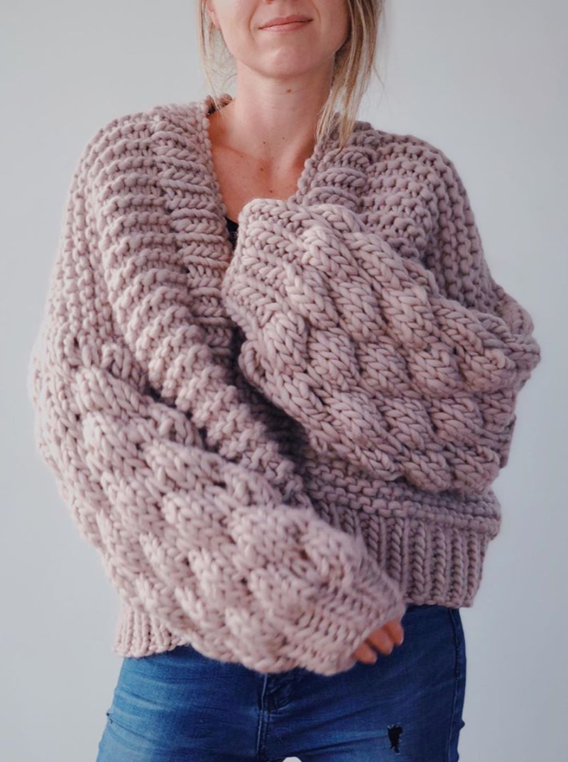 Club Knit Knitwear Blush Pink Livia Cardigan