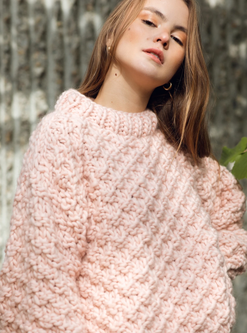 Club Knit Knitwear Blush Pink Vera Jumper
