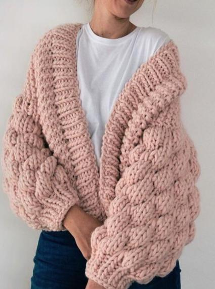 Club Knit Knitwear Off White / XS\S Blush Pink Livia Cardigan