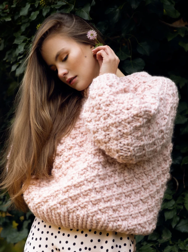 Club Knit Knitwear Off White / XS\S Blush Pink Vera Jumper