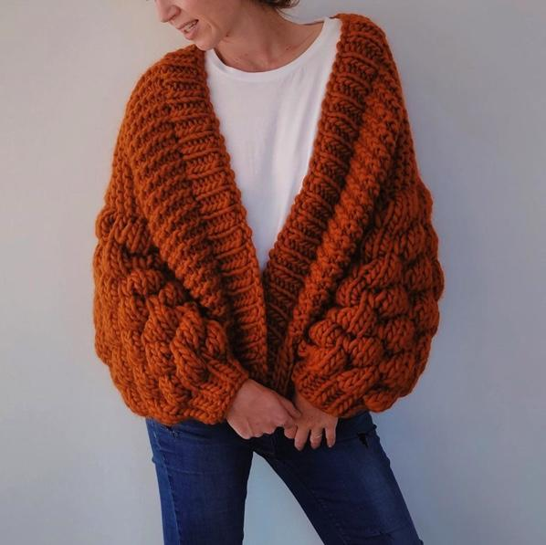 Club Knit Knitwear Sunset Orange / XS\S Blush Pink Livia Cardigan