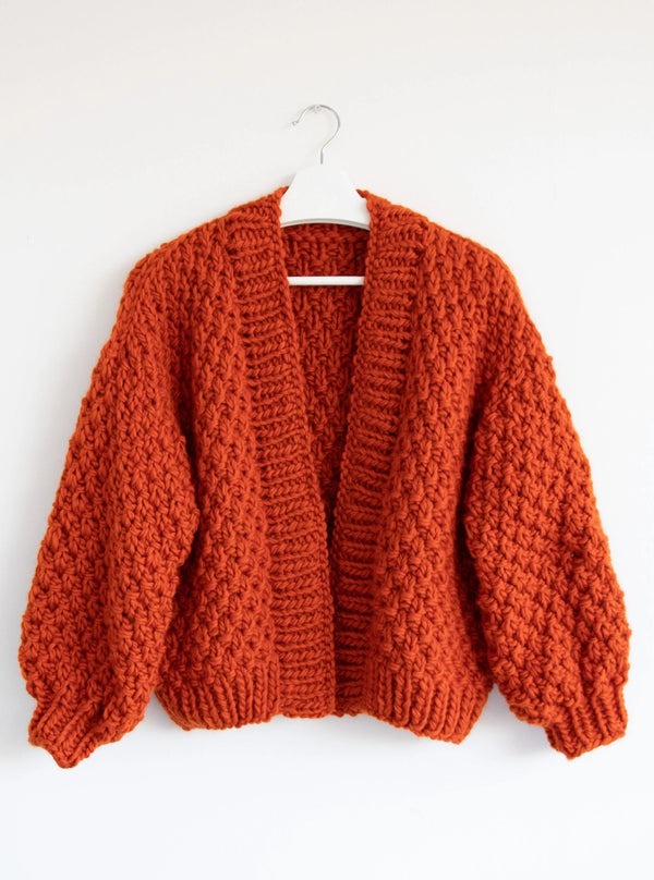 Club Knit Knitwear Warm Orange Renne Cardigan