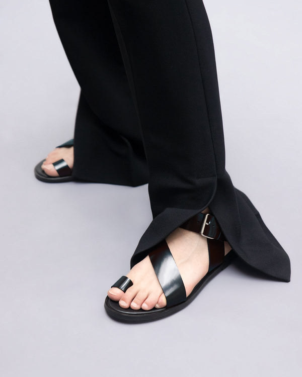 ESSĒN Shoes Black City Sandals