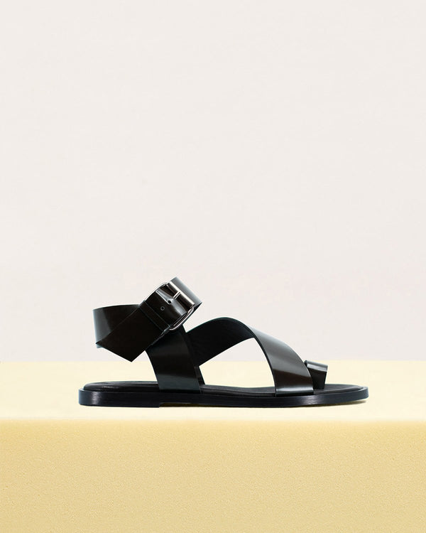 ESSĒN Shoes Black / Leather / 35 Black City Sandals