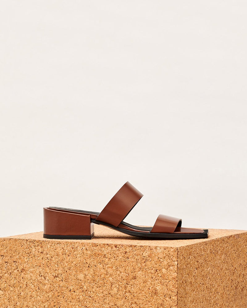 ESSĒN Shoes Cognac Brown / Leather / 35 Cognac Summer Slide