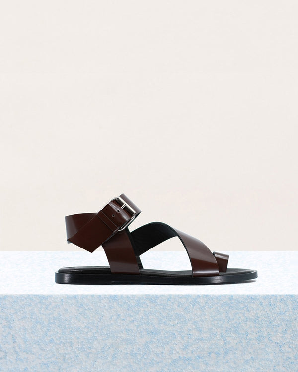 ESSĒN Shoes Espresso Brown / Leather / 35 Espresso City Sandals