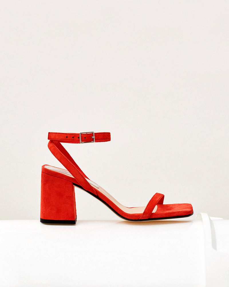 ESSĒN Shoes Red / Suede Leather / 35 Red Elevated Essential
