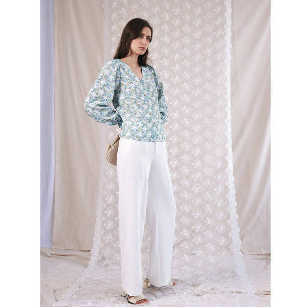 "Jessica Russell Flint Button Down Blouse / ""Daisy Chains"""