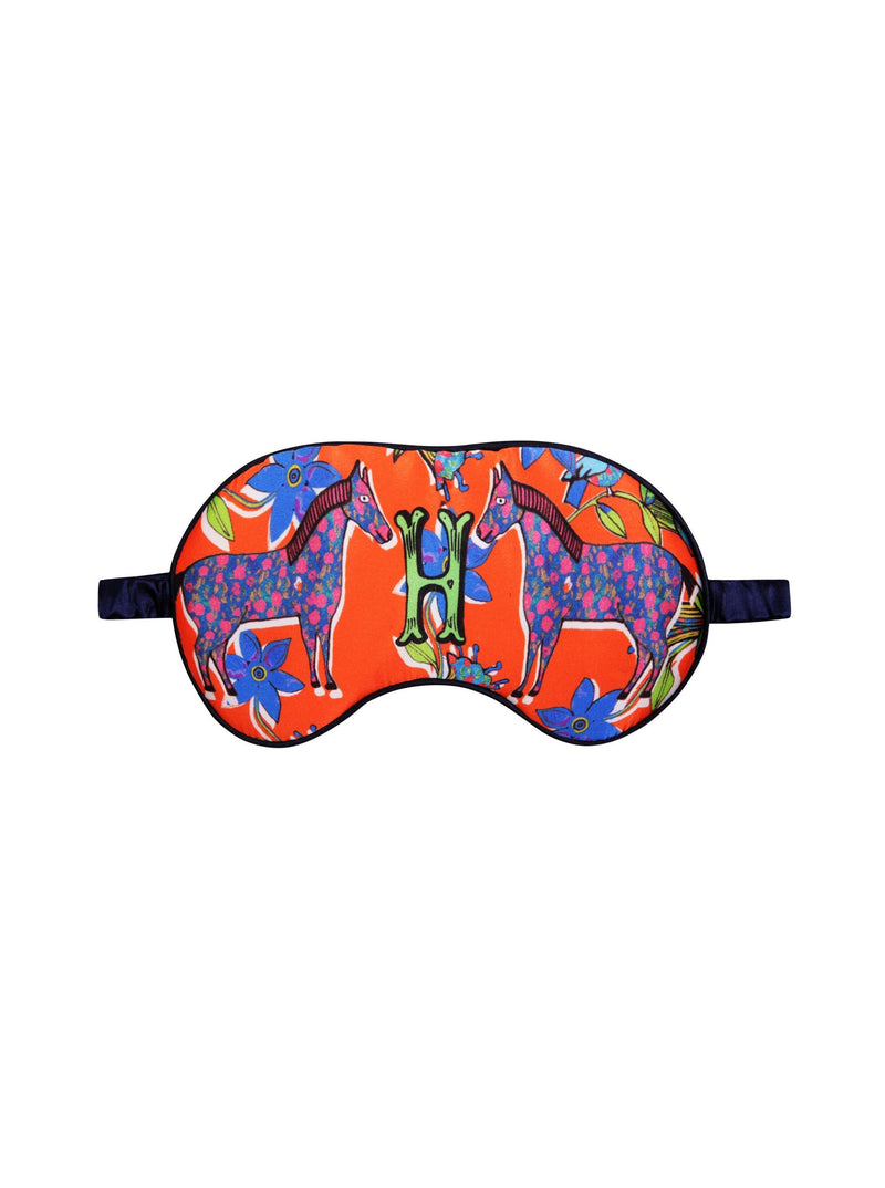 Jessica Russell Flint Silk Sleep Mask H for Horses Silk Eye Mask