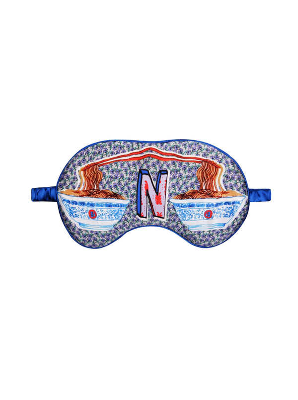 Jessica Russell Flint Sleep Mask N for Noodles Silk Eye Mask