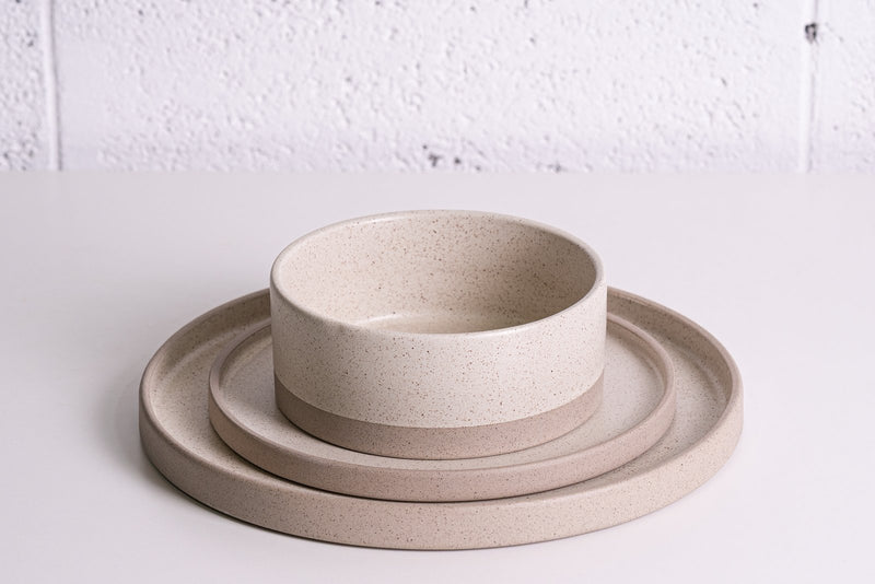 Keren Tibi Pottery Elegant collection plate set