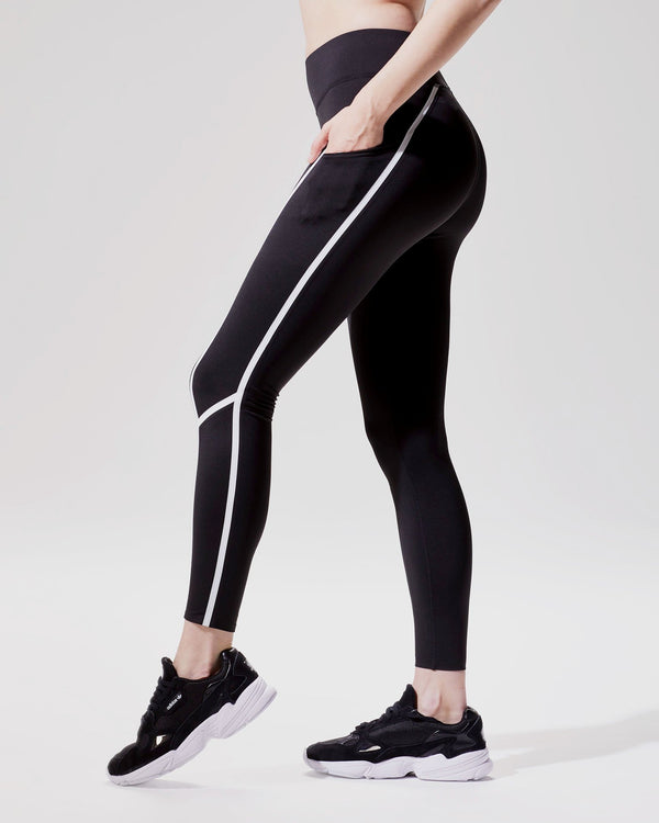 MICHI Leggings Black/White / X-Small Linear Legging