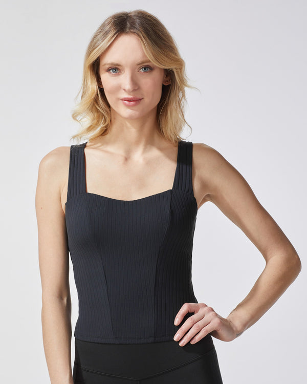 MICHI Tops Black / X-Small Rocket Ribbed Tank