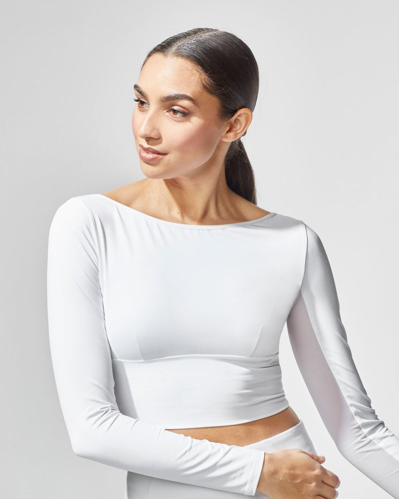 MICHI Tops White / X-Small Rally Crop Top