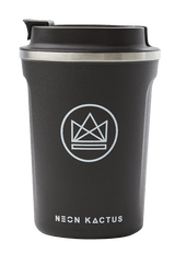Neon Kactus Zero Waste Black Roman Stainless Steel Coffee Cup 340ML