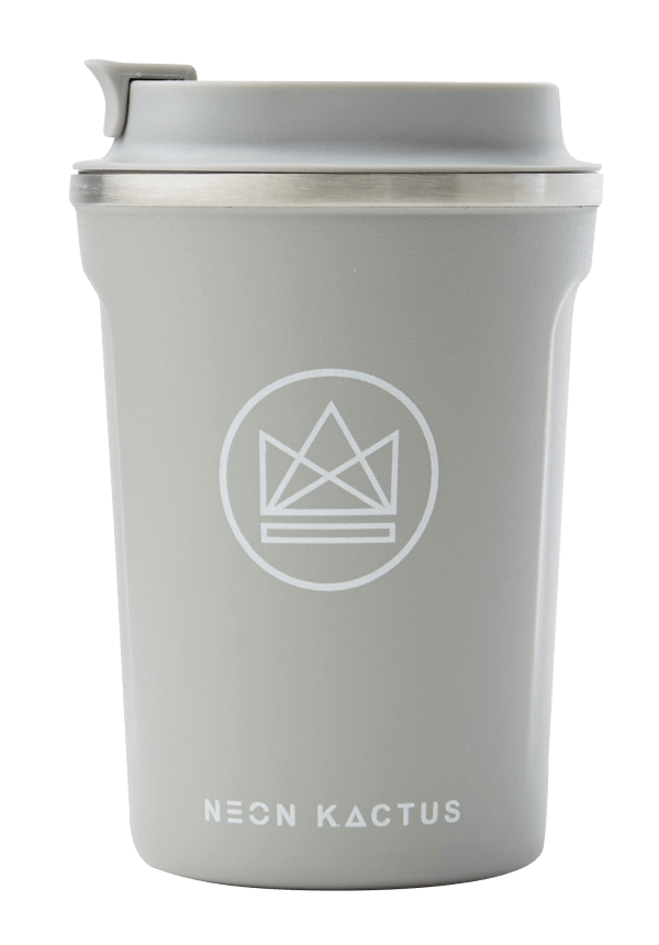 Neon Kactus Zero Waste Grey Roman Stainless Steel Coffee Cup 340ML