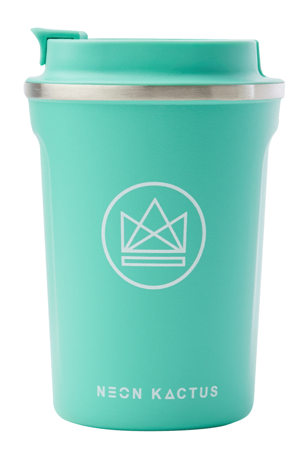 Neon Kactus Zero Waste Mint Roman Stainless Steel Coffee Cup 340ML