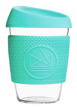 Neon Kactus Zero Waste Mint Yellow Glass Coffee Cup 340ML