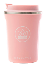Neon Kactus Zero Waste Pink Roman Stainless Steel Coffee Cup 340ML