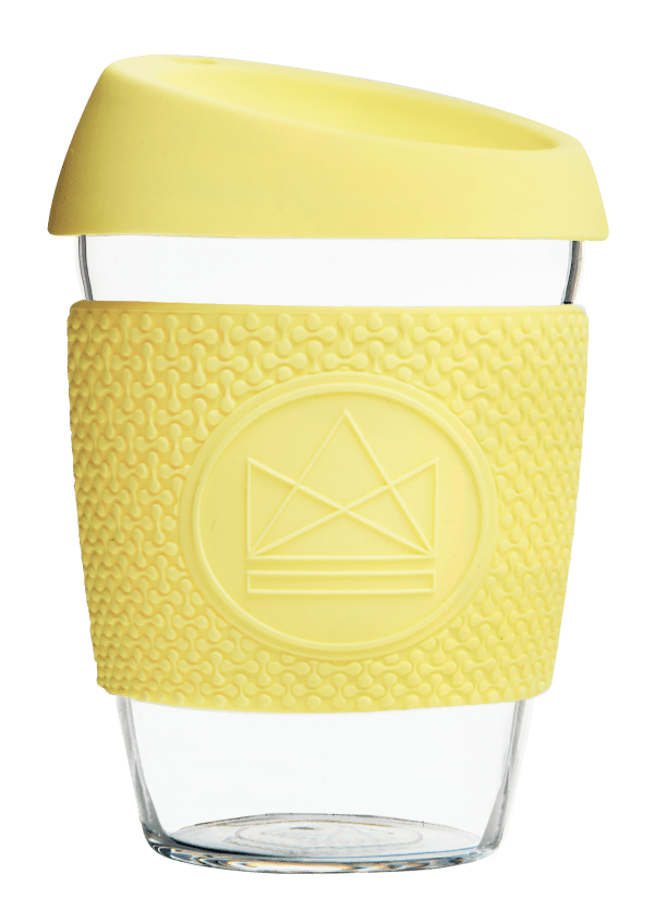 Neon Kactus Zero Waste Yellow Yellow Glass Coffee Cup 340ML