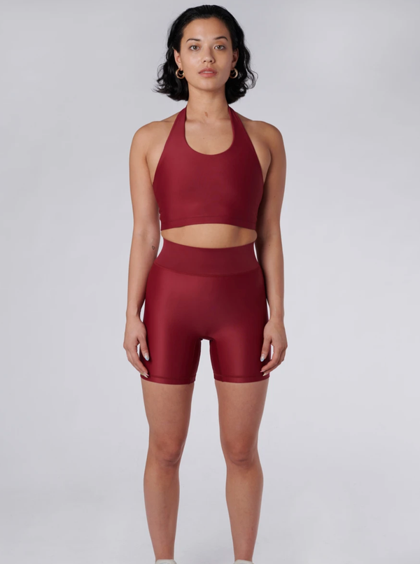 Outfyt Activewear Wine Cora Bicycle Shorts